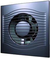 Slim 5 Dark gray metal Вентилятор осевой вытяжной с обратным клапаном D125
